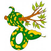 Stickers branche serpent