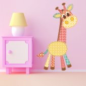 Autocollant Stickers mural enfant girafe