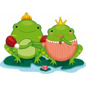 Stickers grenouille princesse