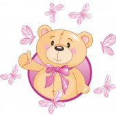 Stickers ourson papillons