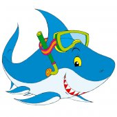 Stickers Requin Masque