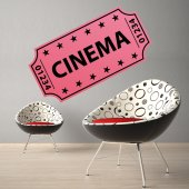 Autocollant Stickers mural ado ticket cinema