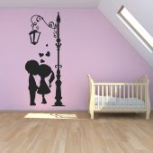 Adesivo Murale Lampione bambini