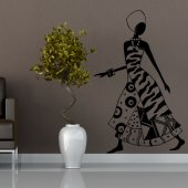 African Dancer Wall Stickers