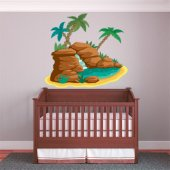 Autocolante decorativo infantil cascata