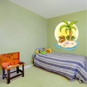 Autocolante decorativo infantil ilha do tesouro