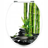 Bamboo - Toilet Seat Decal Sticker