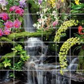 Cascading - Tiles Wall Stickers