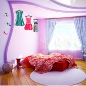 Fashion Set Wall Stickers
