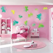 Kit Adesivo Murale bambini 14 farfalle