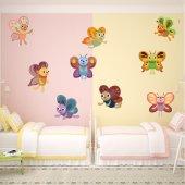 Kit Adesivo Murale bambini 9 farfalle