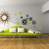 Kit Autocolante decorativo  12 círculos