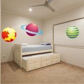 Kit Autocolante decorativo infantil 3 planetas