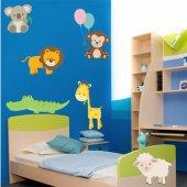 Kit Autocolante decorativo infantil 6 Animais