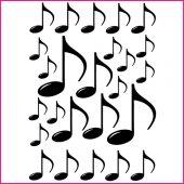 Kit Vinilo decorativo  25 notas de la música