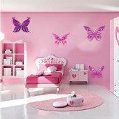 Komplet 4 naklejek Dla Dzieci - Motyle