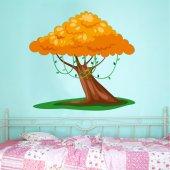 Naklejka ścienna Dla Dzieci - Drzewo i Pomarańcze