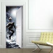 Naklejka na Drzwi - Piłkarz