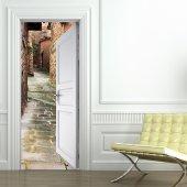 Naklejka na Drzwi - Uliczka