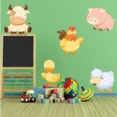 Autocollant Stickers enfant animaux de la ferme