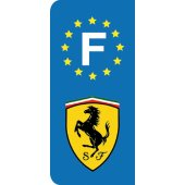 Stickers Plaque Ferrari