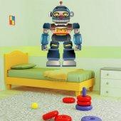 Autocollant Stickers enfant robot bleue