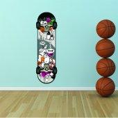 Autocollant Stickers ado skate dos