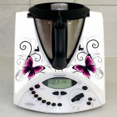 Stickers Thermomix TM 31 Papillons white
