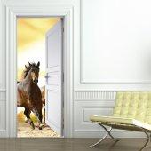 Türtapete Pferde